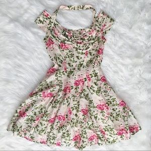 Vintage Suzy Perette Rose Fit and Flare Dress